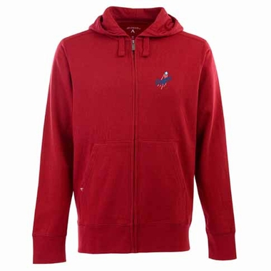 Los Angeles Dodgers Mens Signature Full Zip Hooded Sweatshirt (Alternate Color: Red)