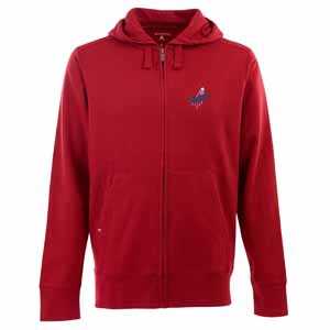 Los Angeles Dodgers Mens Signature Full Zip Hooded Sweatshirt (Alternate Color: Red) - Small