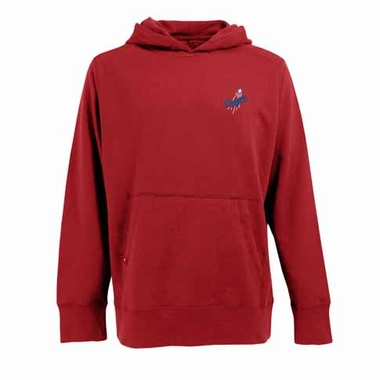 Los Angeles Dodgers Mens Signature Hooded Sweatshirt (Alternate Color: Red)