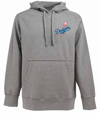 Los Angeles Dodgers Mens Signature Hooded Sweatshirt (Color: Gray)