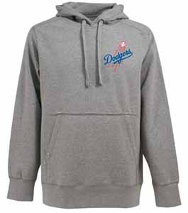 Los Angeles Dodgers Mens Signature Hooded Sweatshirt (Color: Gray) - Large