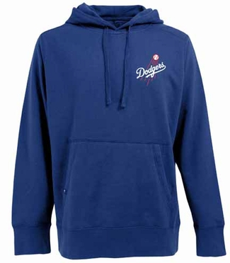 Los Angeles Dodgers Mens Signature Hooded Sweatshirt (Team Color: Royal)