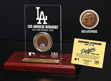 Los Angeles Dodgers Dodger Stadium Infield Dirt Coin Etched Acrylic