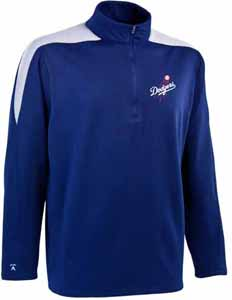 Los Angeles Dodgers Mens Succeed 1/4 Zip Performance Pullover (Team Color: Royal) - Large