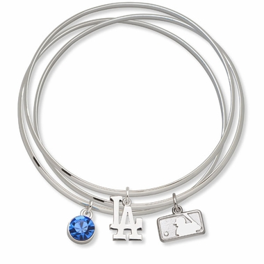 Los Angeles Dodgers Triple Bangle Bracelet