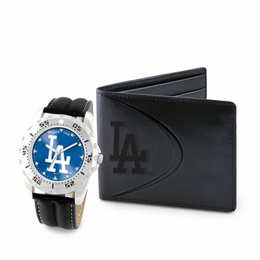 Los Angeles Dodgers Watch and Wallet Gift Set