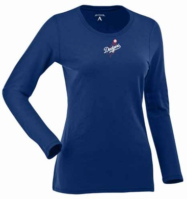 Los Angeles Dodgers Womens Relax Long Sleeve Tee (Team Color: Royal)