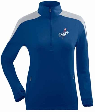 Los Angeles Dodgers Womens Succeed 1/4 Zip Performance Pullover (Team Color: Royal)