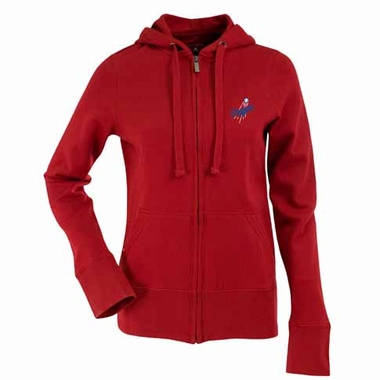 Los Angeles Dodgers Womens Zip Front Hoody Sweatshirt (Alternate Color: Red)