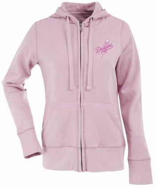 Los Angeles Dodgers Womens Zip Front Hoody Sweatshirt (Color: Pink)