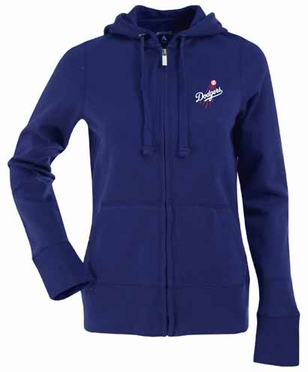 Los Angeles Dodgers Womens Zip Front Hoody Sweatshirt (Team Color: Royal)