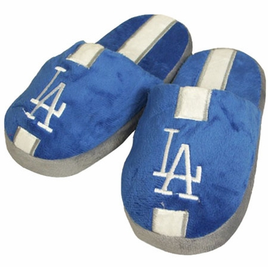 Los Angeles Dodgers YOUTH Team Stripe Slide Slippers