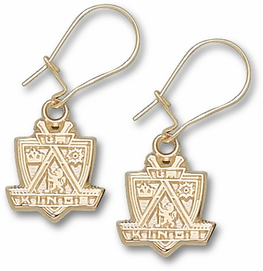Los Angeles Kings 10K Gold Dangle Earrings