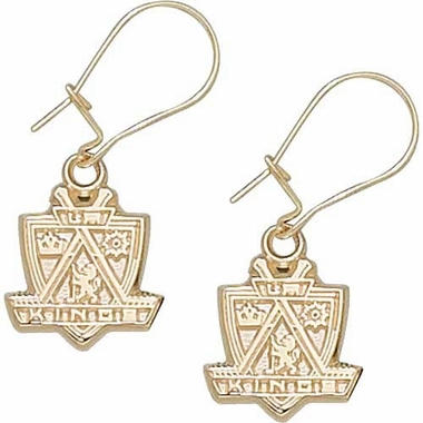 Los Angeles Kings 10K Gold Post or Dangle Earrings