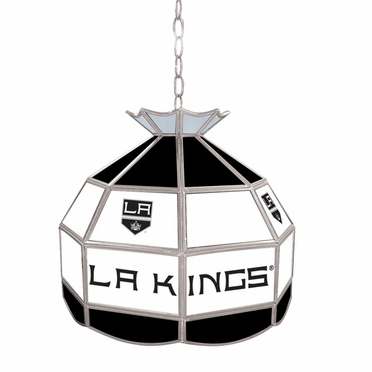 Los Angeles Kings 16 Inch Diameter Stained Glass Pub Light