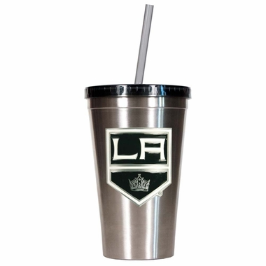 Los Angeles Kings 16oz Stainless Steel Insulated Tumbler with Straw
