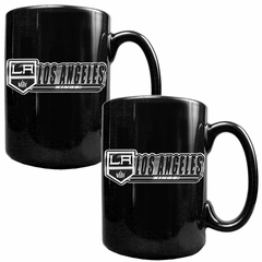Los Angeles Kings 2 Piece Coffee Mug Set (Wordmark)