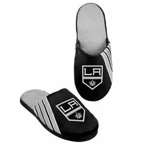 Los Angeles Kings 2012 Team Stripe Logo Slippers - Large