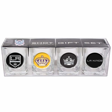 Los Angeles Kings 4 Piece Assorted Shot Glass Set