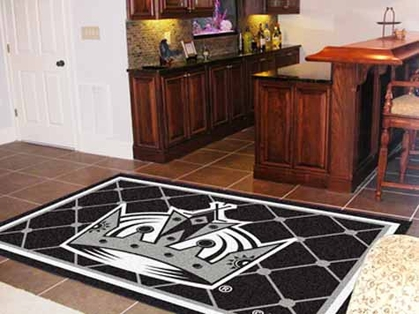 Los Angeles Kings 5 Foot x 8 Foot Rug