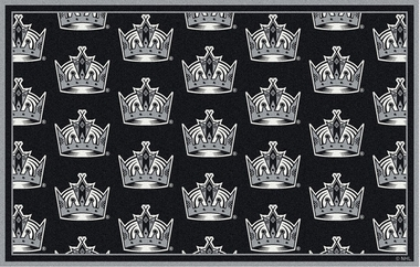 "Los Angeles Kings 7'8 x 10'9"" Premium Pattern Rug"