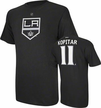 Los Angeles Kings Anze Kopitar Name and Number T-Shirt