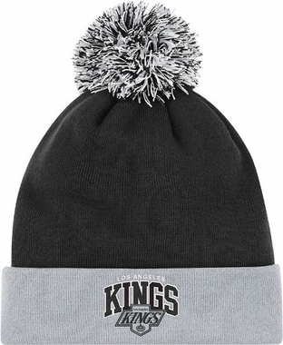 Los Angeles Kings Arched Logo Vintage Cuffed Pom Hat