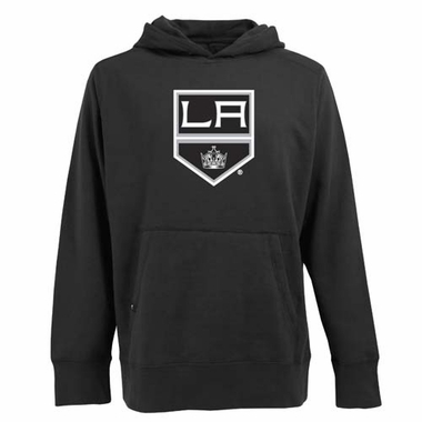 Los Angeles Kings Big Logo Mens Signature Hooded Sweatshirt (Team Color: Black)
