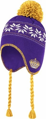 Los Angeles Kings CCM Tassel Pom Snowflake Knit Hat