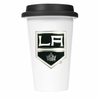Los Angeles Kings Ceramic Travel Cup (Black Lid)