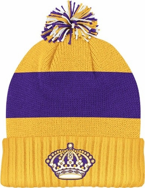 Los Angeles Kings Cuffed Knit Pom Hat