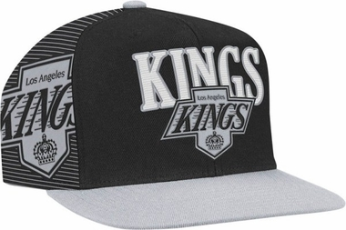 Los Angeles Kings Double Graphic Laser Stitched Snap Back Hat