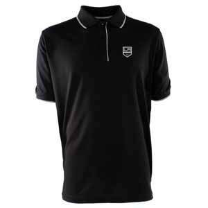 Los Angeles Kings Mens Elite Polo Shirt (Team Color: Black) - Large