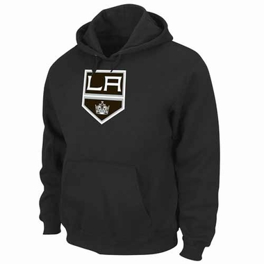 Los Angeles Kings Felt Tek Patch Black Hooded Sweatshirt
