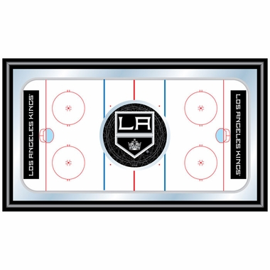 Los Angeles Kings Hockey Bar Mirror