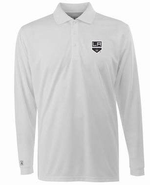 Los Angeles Kings Mens Long Sleeve Polo Shirt (Color: White)