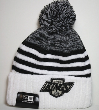 Los Angeles Kings New Era NHL Snowfall Stripe Cuffed Knit Hat