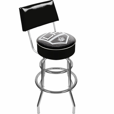 Los Angeles Kings Padded Bar Stool with Back