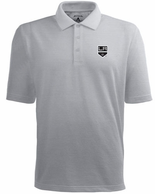 Los Angeles Kings Mens Pique Xtra Lite Polo Shirt (Color: Gray)