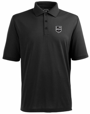 Los Angeles Kings Mens Pique Xtra Lite Polo Shirt (Team Color: Black)