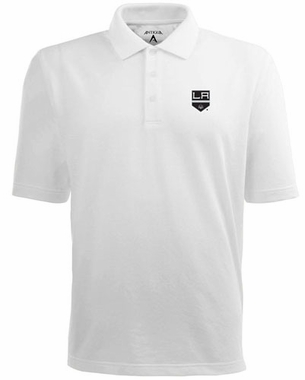 Los Angeles Kings Mens Pique Xtra Lite Polo Shirt (Color: White)