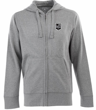 Los Angeles Kings Mens Signature Full Zip Hooded Sweatshirt (Color: Gray)