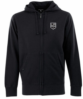 Los Angeles Kings Mens Signature Full Zip Hooded Sweatshirt (Team Color: Black)