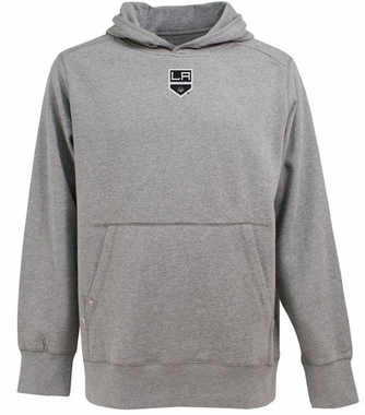 Los Angeles Kings Mens Signature Hooded Sweatshirt (Color: Gray)