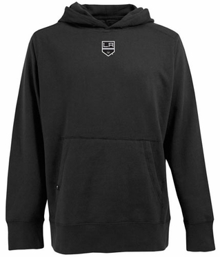 Los Angeles Kings Mens Signature Hooded Sweatshirt (Team Color: Black)
