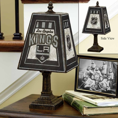 Los Angeles Kings Small Art Glass Lamp