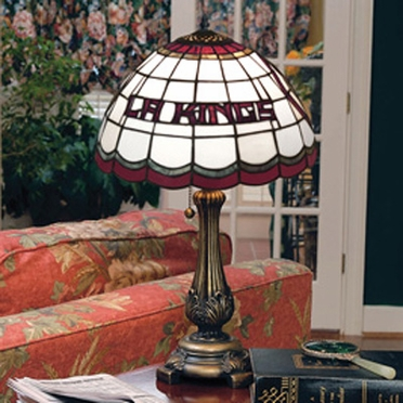 Los Angeles Kings Stained Glass Table Lamp
