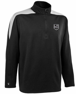 Los Angeles Kings Mens Succeed 1/4 Zip Performance Pullover (Team Color: Black)