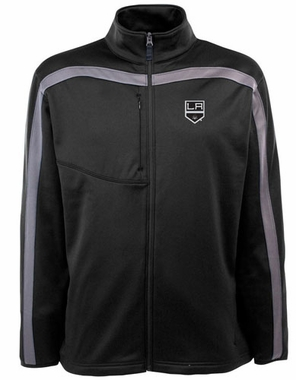 Los Angeles Kings Mens Viper Full Zip Performance Jacket (Team Color: Black)