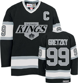 Los Angeles Kings Wayne Gretzky CCM Team Color Premier Jersey - Medium